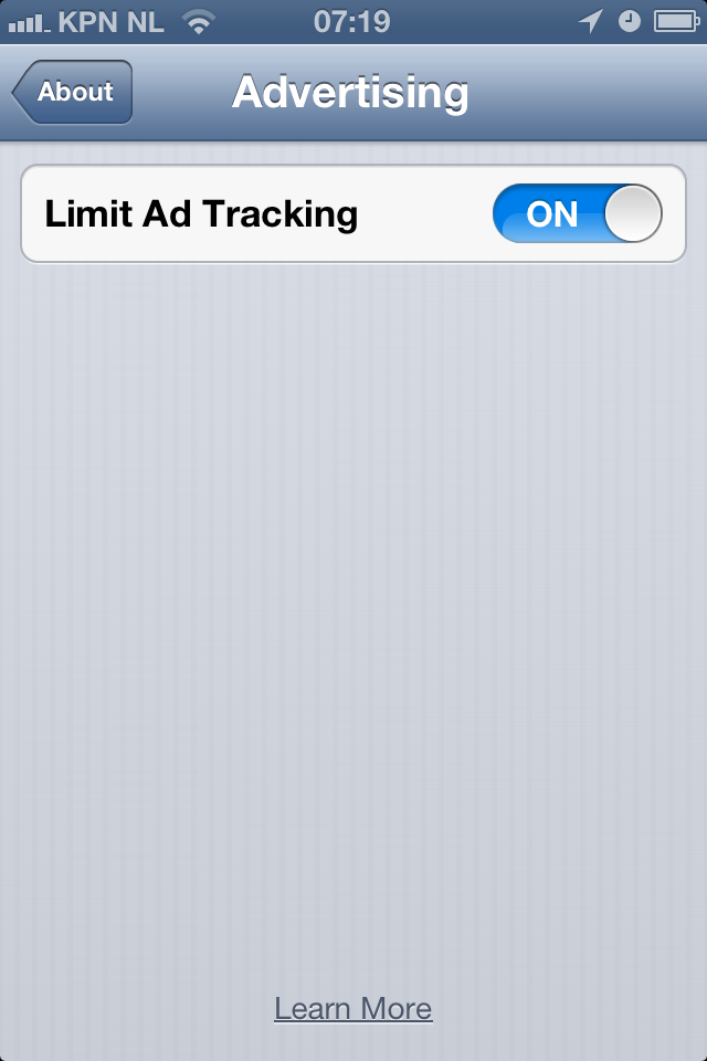 IOS Limit Ad Tracking